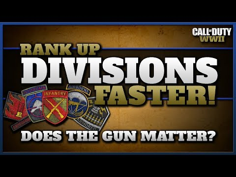 Rank Up Divisions Faster! | Does the Gun Matter? (CoD WW2)