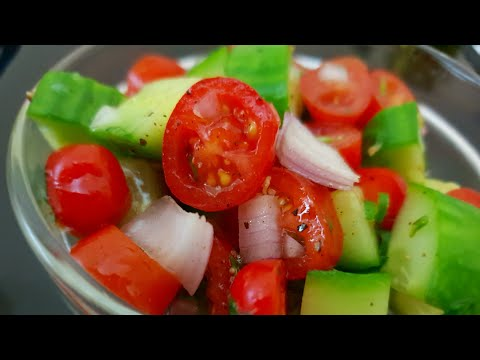How To Make Easy CHERRY TOMATOES CUCUMBER Salad/ Cucumber Cherry Tomatoes Salad