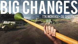 Big changes coming to Battlefield V TTK and 3D Spotting