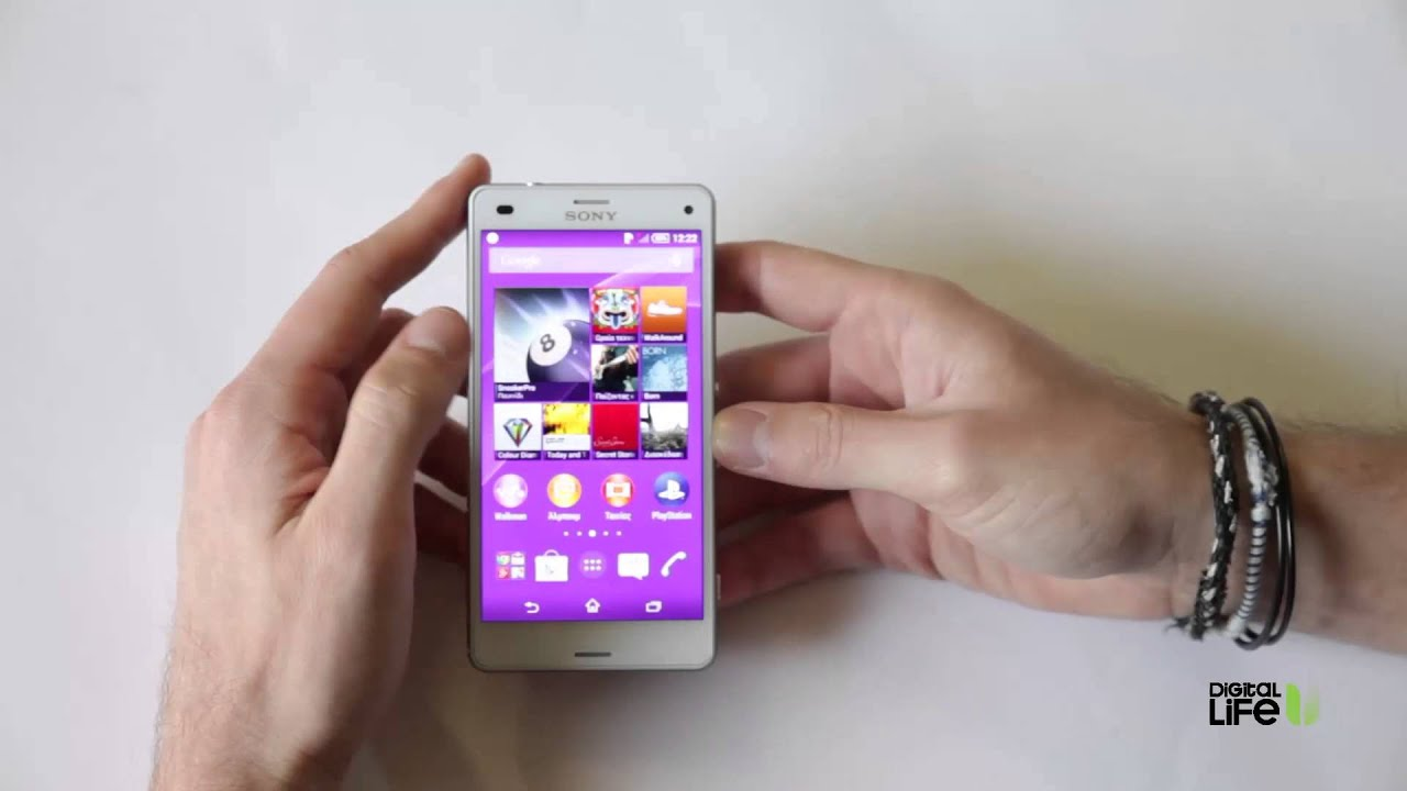 Sony xperia z3 compact hands on review greek youtube