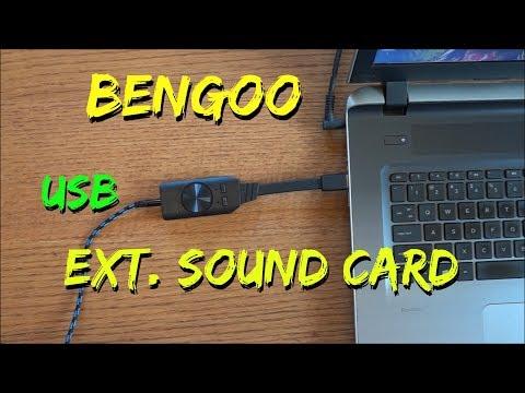 BENGOO External USB sound Card