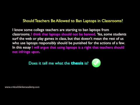 Analyzing a Sample Argumentative Essay: The Introduction