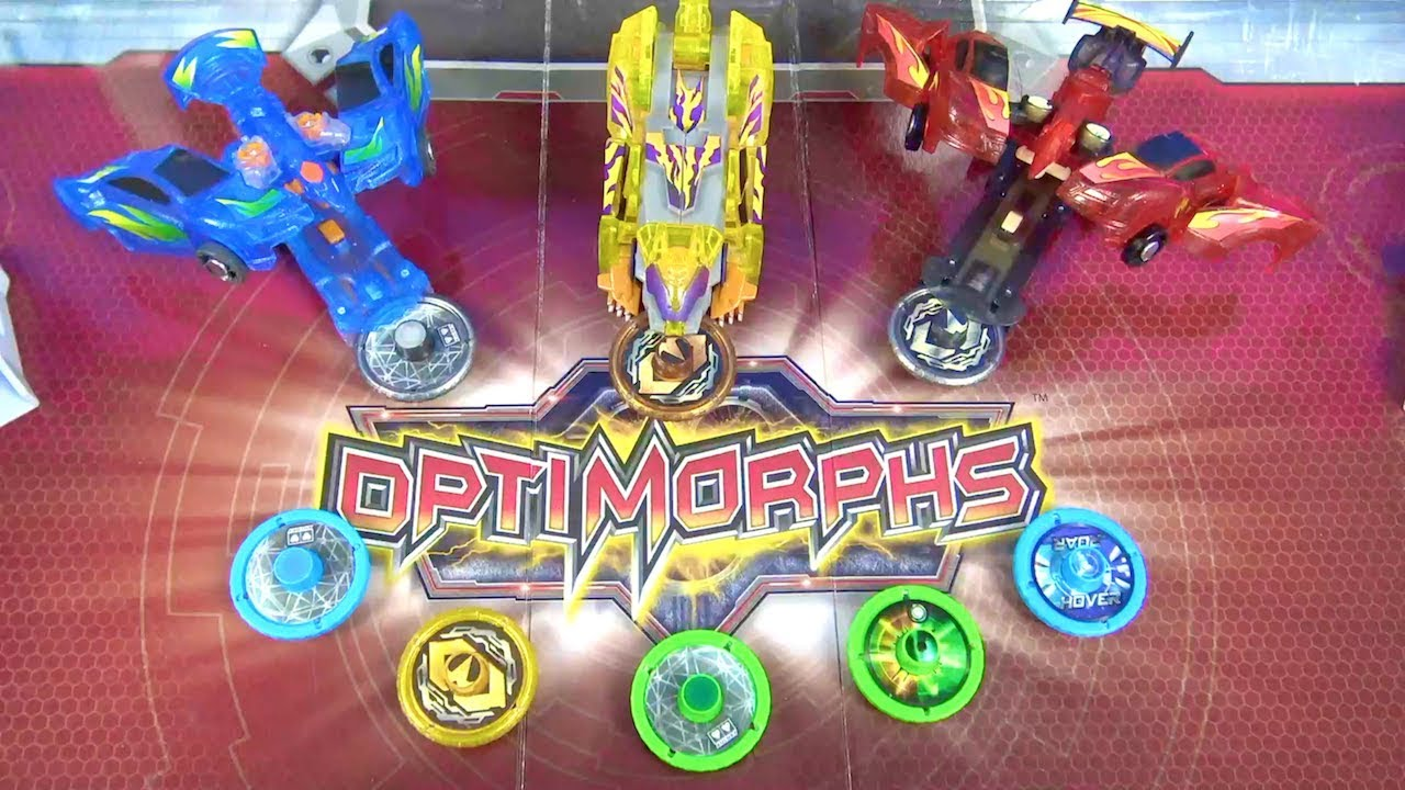 Optimorphs oyuncakları açıyoruz Heidi ve Peter dönüşen Optimorphs Arena seti ile challenge yapıyor