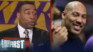 Cris Carter states LaVar's threat to move Lonzo from Lakers will deter LeBron | FIRST THINGS FIRST
