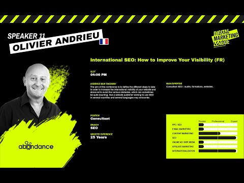 Digital Marketing League: International SEO - Olivier Andrieu