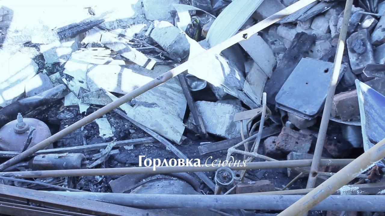 Последствия обстрела Горловки со стороны ВСУ в ночь на 29 августа. Артемовское шоссе