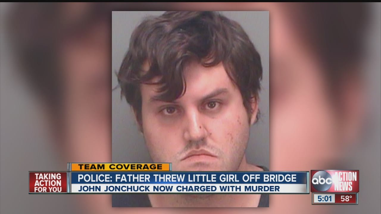 Police: Father threw little girl off bridge