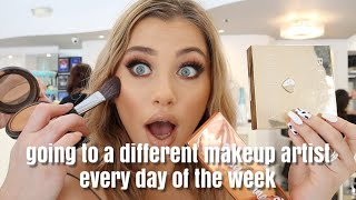 Going To A Different Makeup Artist Everyday Of The Week
