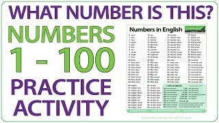 What number is this? Numbers 1-100 English practice activity