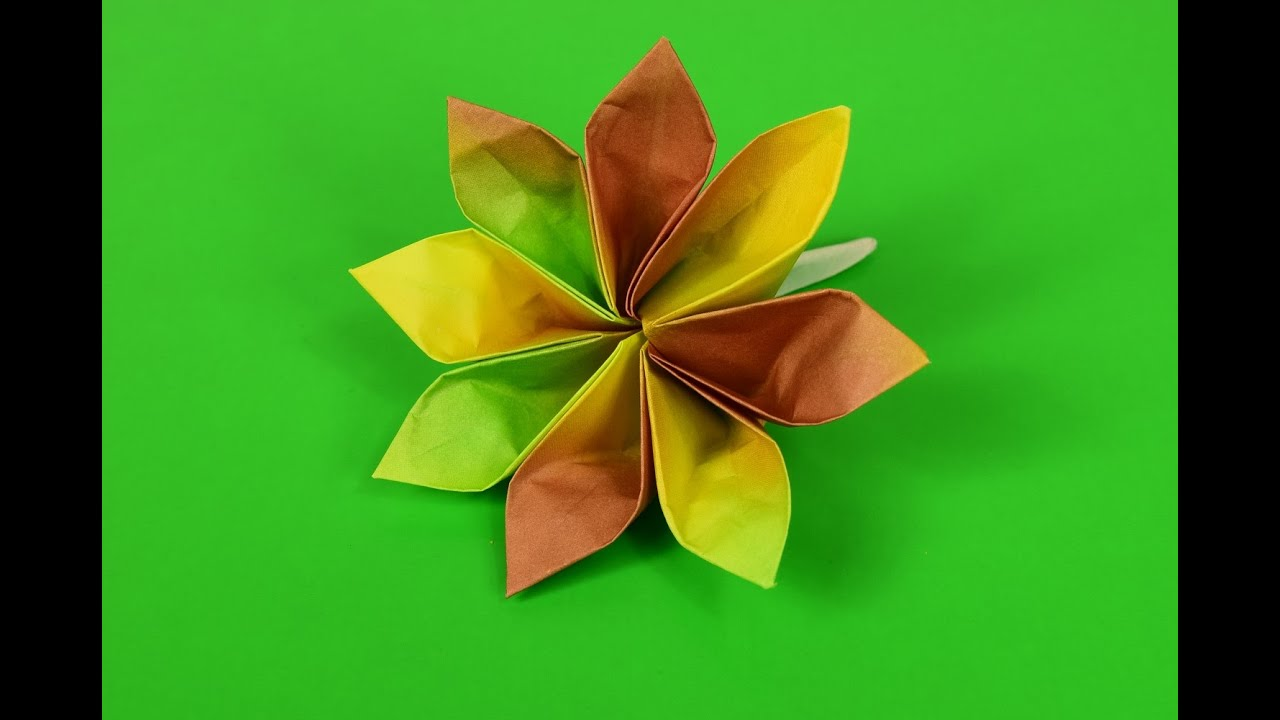 8 petal flower origami youtube 8 petal flower origami mightylinksfo