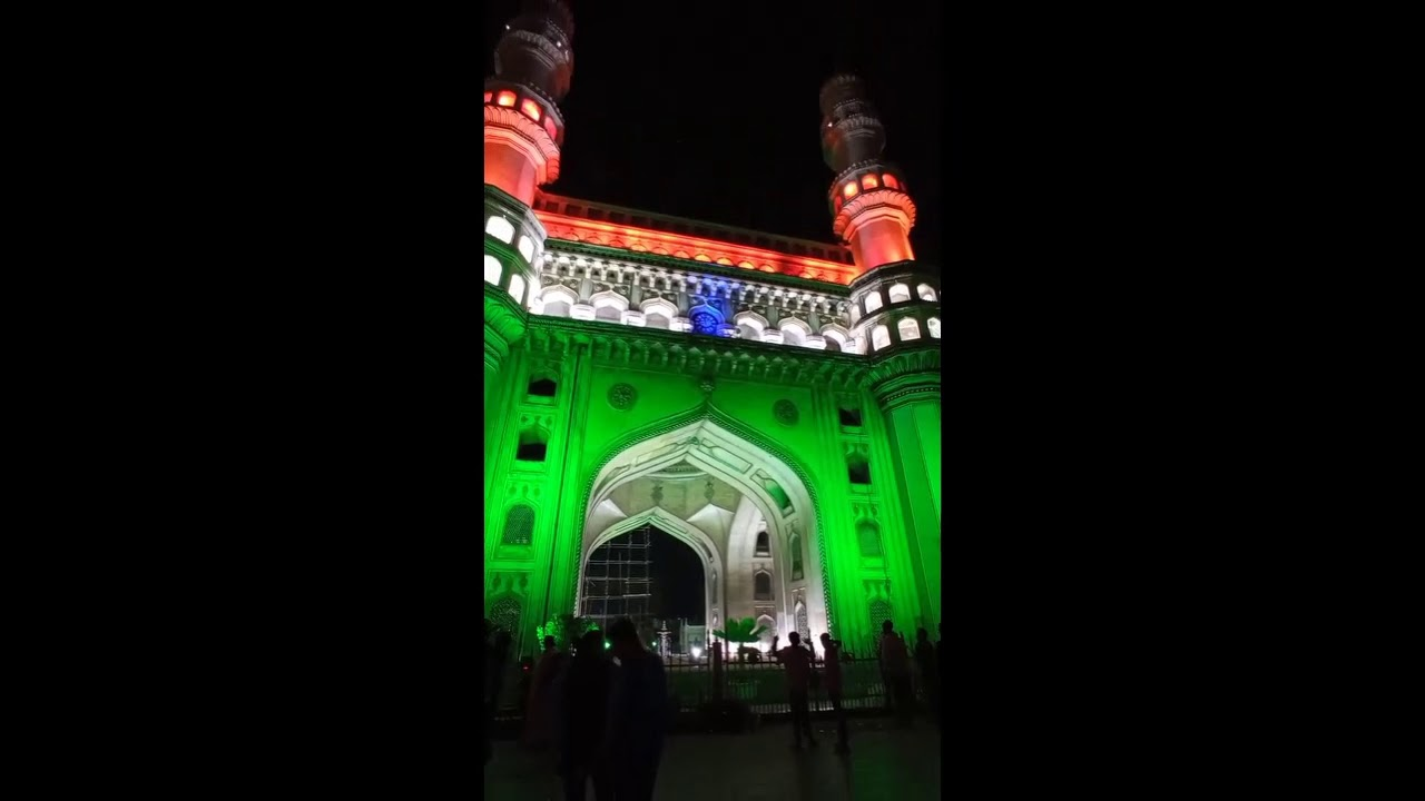 Historical Charminar decked up for Republic Day