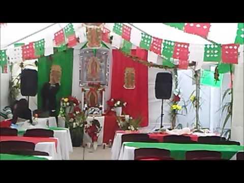 El Altar De La Virgen De Guadalupe En Mi Casa Youtube