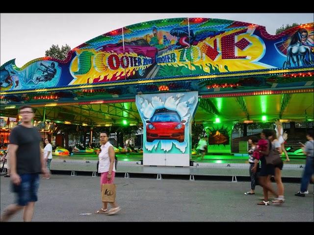 Zeitraffer Impark Festival Fahrgeschäfte