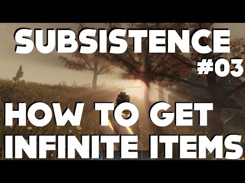 Subsistence Gameplay - HOW TO SPAWN INFINITE ITEMS!!!