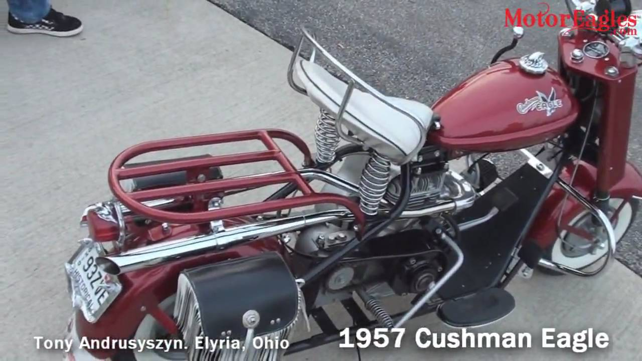 Restored Vintage 1957 Cushman Eagle Youtube