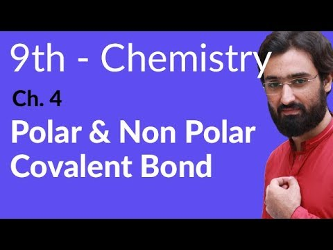 Polar & Non Polar Covalent Bond - Chemistry Chapter 4 Structure of Molecules - 9th Class
