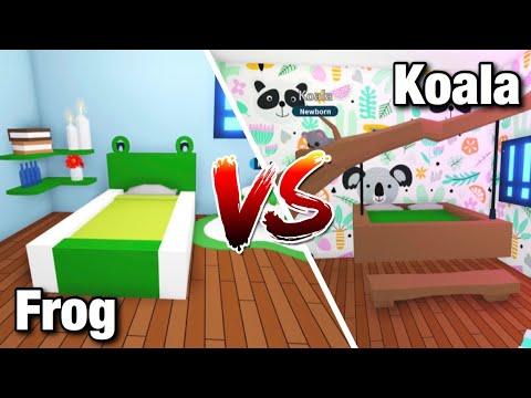 Frog Vs Koala Bedroom Design Ideas Building Hacks Adopt Me