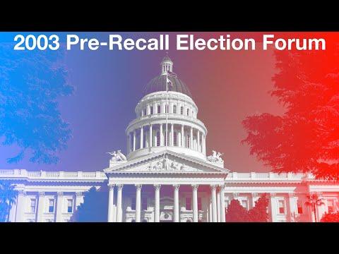 Pre-Recall Election Forum
