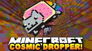Minecraft RAINBOW COSMIC DROPPER! (17 Levels of AWESOME!) | w/ PrestonPlayz & MrWoofless