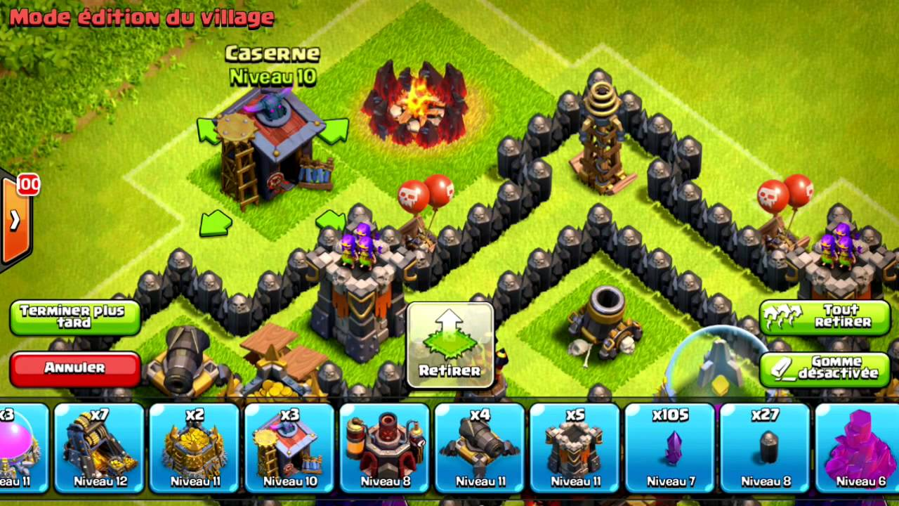 Town hall 8 rushing base (Master League) Clash fo Clans
