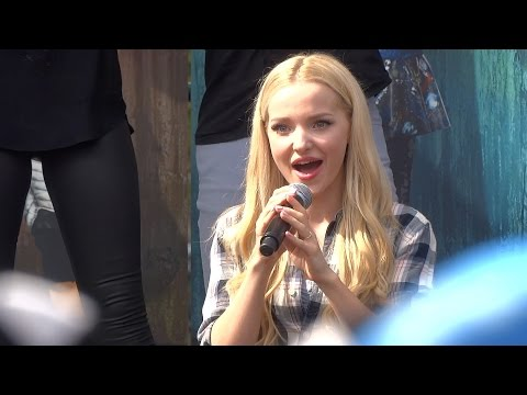 Descendants sing-along with cast during Fan Event at Downtown Disney