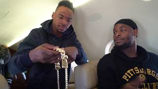 Le'Veon Bell Unfiltered: Private Jet with his Teammates
