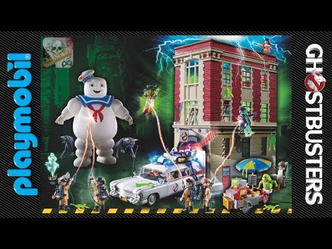 estacion de bomberos cazafantasmas playmobil ghostbusters youtube. Black Bedroom Furniture Sets. Home Design Ideas