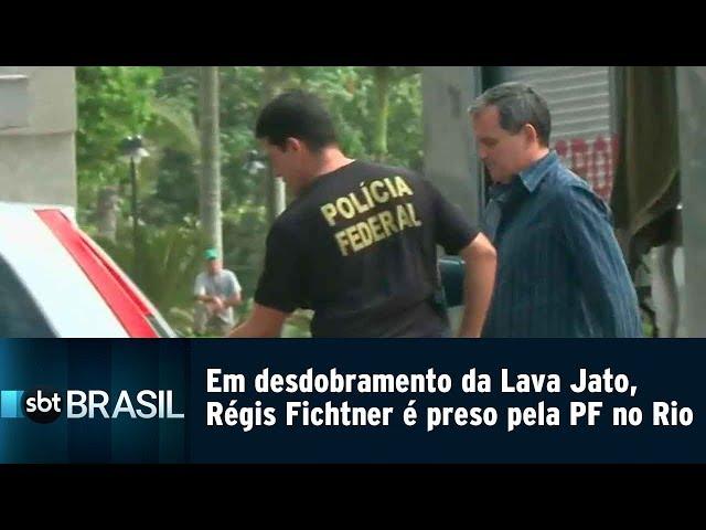 Em desdobramento da Lava Jato, Régis Fichtner é preso pela PF no Rio | SBT Brasil (15/02/19)