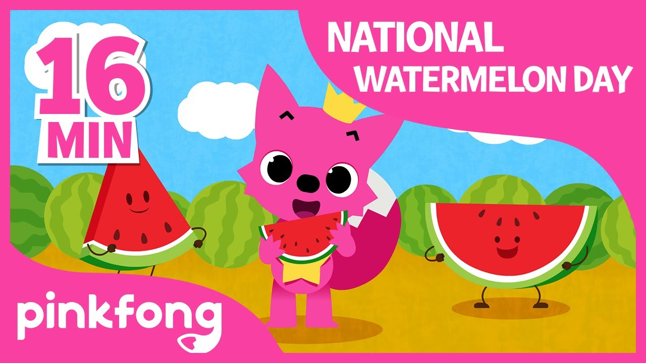 Juicy Watermelon and more | +Compilation | National Watermelon Day | Pinkfong Songs for Children