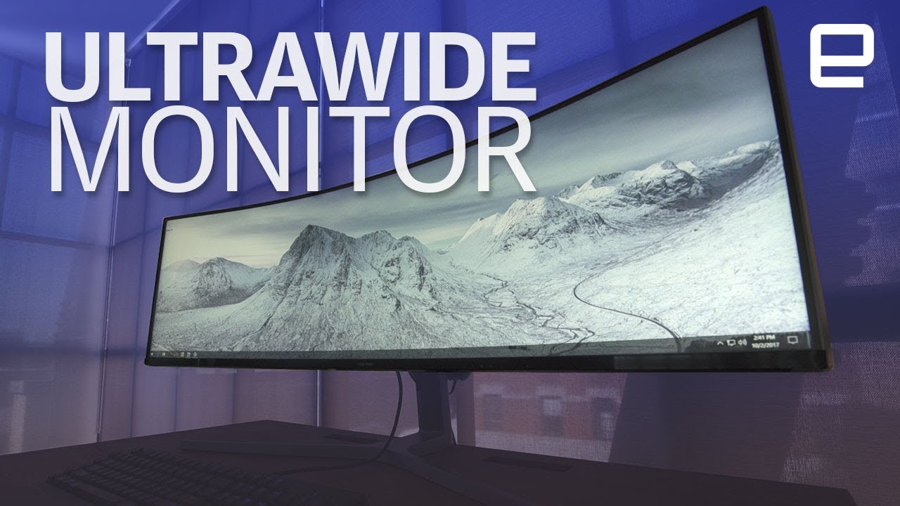 Ultrawide 49 Inch Samsung Gaming Monitor Hands On Youtube