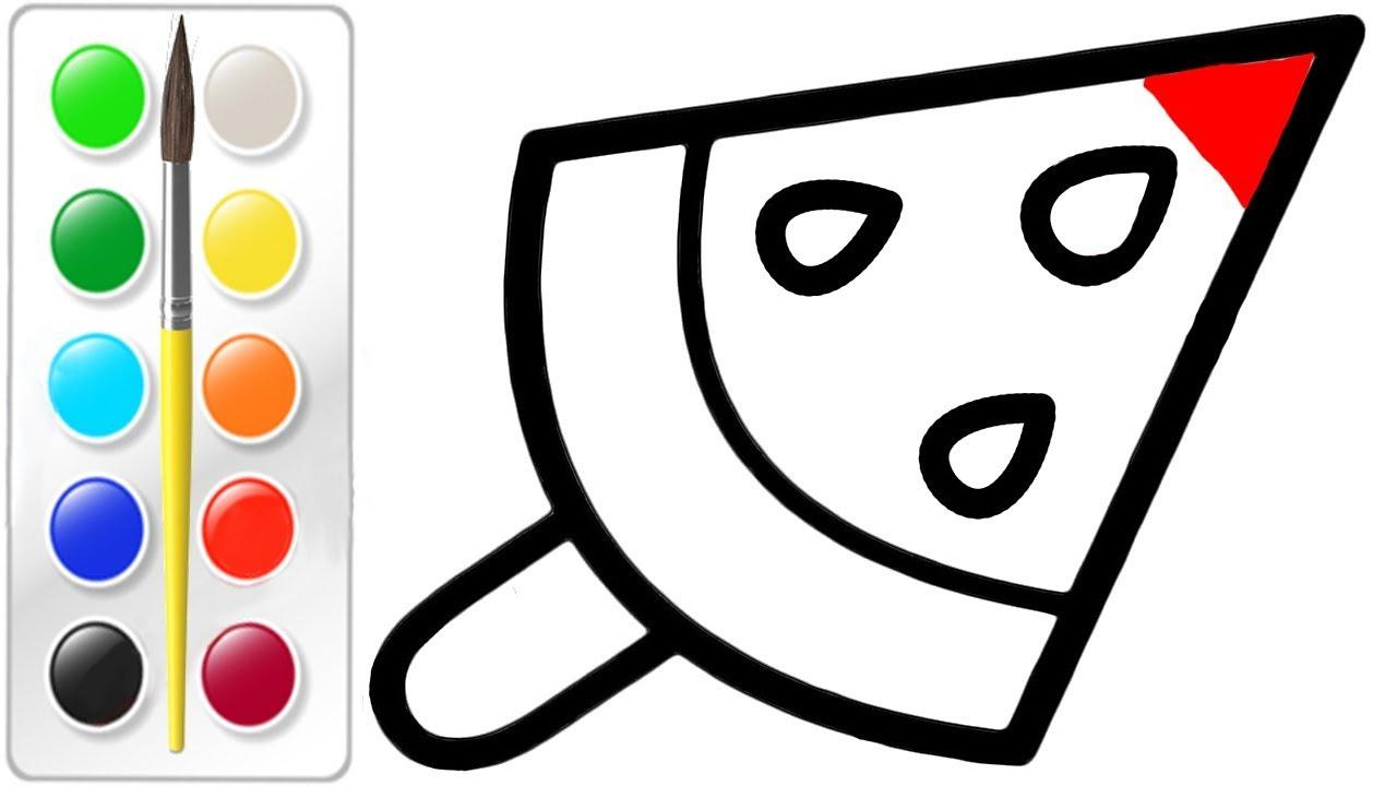 Cara Menggambar Dan Mewarnai Es Krim Semangka Warna Warni