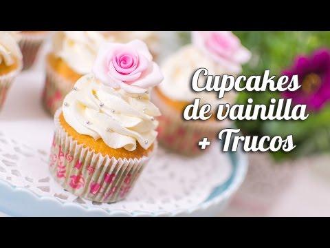 Cupcake de vainilla + trucos para cupcakes perfectos   Quiero Cupcakes!