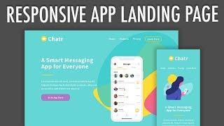 Responsive App Landing Page Flexbox Layout (Part 2)   XO PIXEL