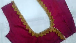 Simple designer blouse back neck design