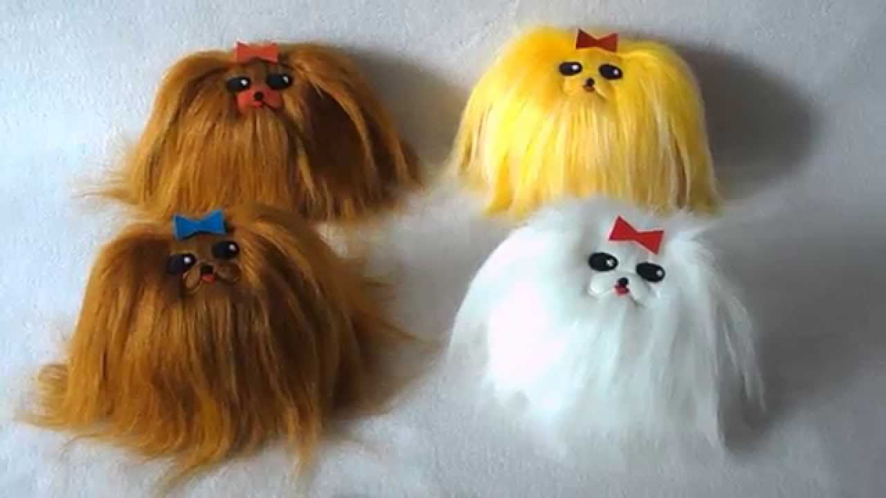 Cute Fluffy Toy Dogs