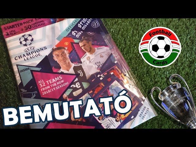 Topps UEFA Champions League 18/19 Matricás Starter Pack | Bemutató