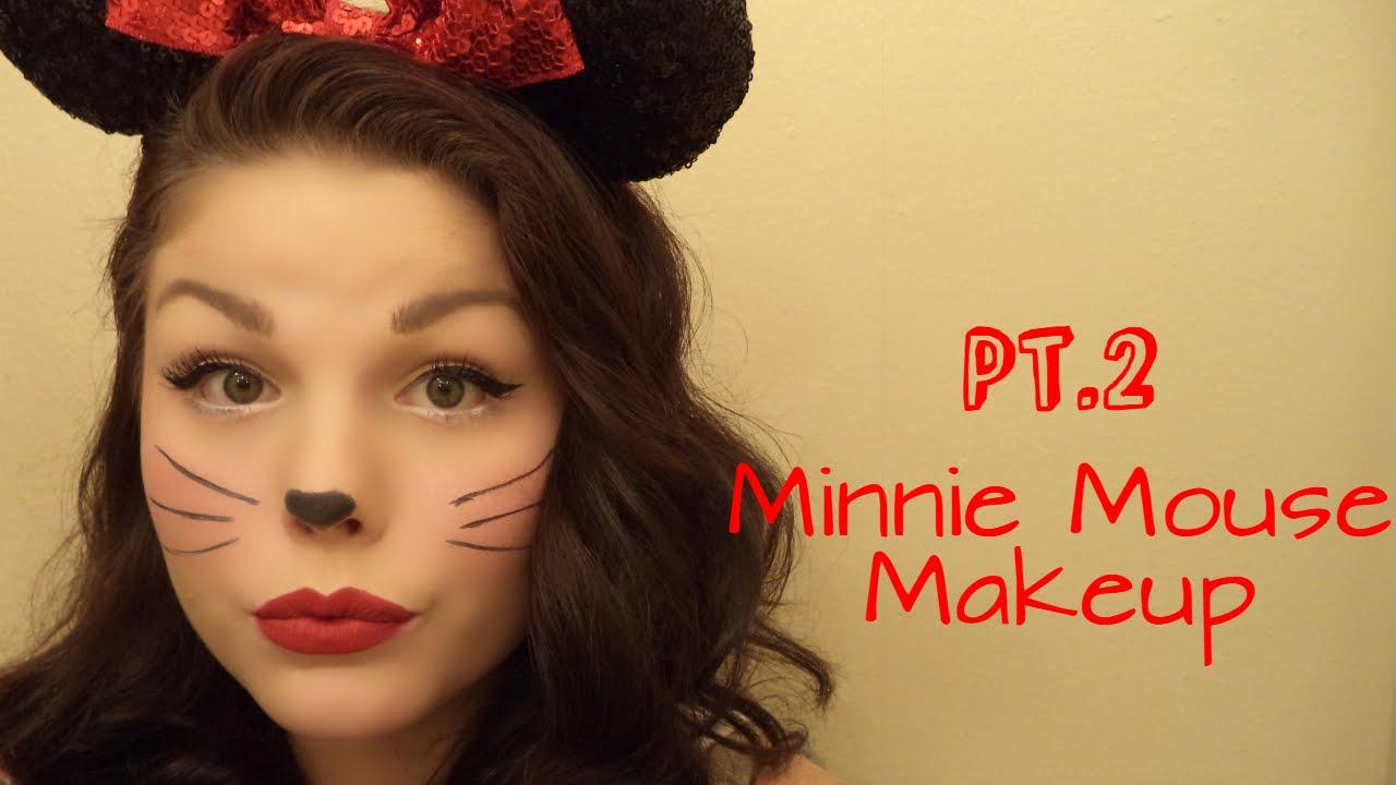 Halloween Tutorialu0026quot;Minnie Mouse Makeupu0026quot;| Morgan-Lee - YouTube