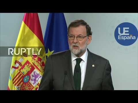 LIVE: Rajoy holds press conference in Brussels