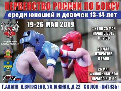 Первенство России по боксу среди юношей 13-14 лет 2019 с. Витязево Финалы