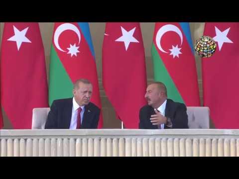 Erdoğan orada! Bakü'nün kurtuluşunun 100  yıl dönümü töreni! GURUR VERİCİ!