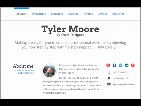 Create a Résumé Website In WordPress - YouTube
