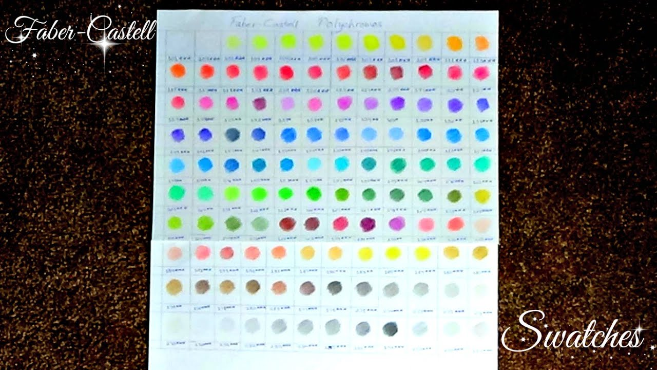 Colour Swatches Faber Castell Polychromos 120