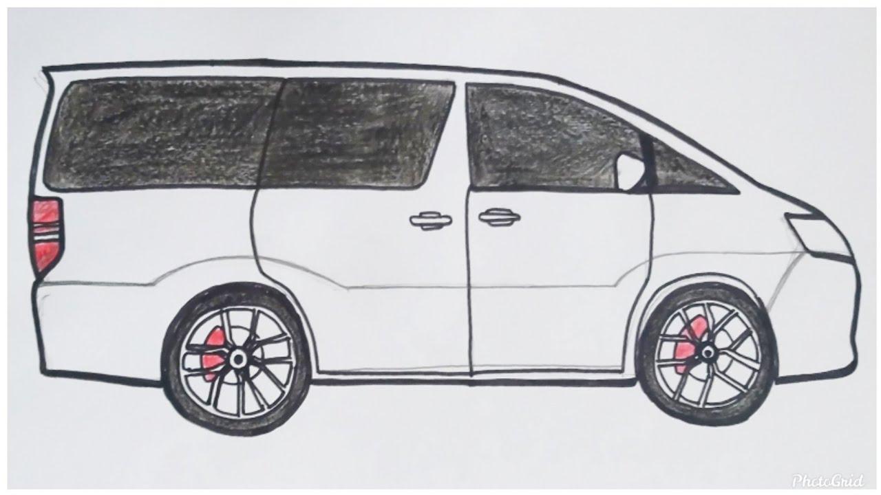 Cara Mudah Menggambar Mobil Toyota Alphard Gen 1 Tutorial Indonesia Youtube