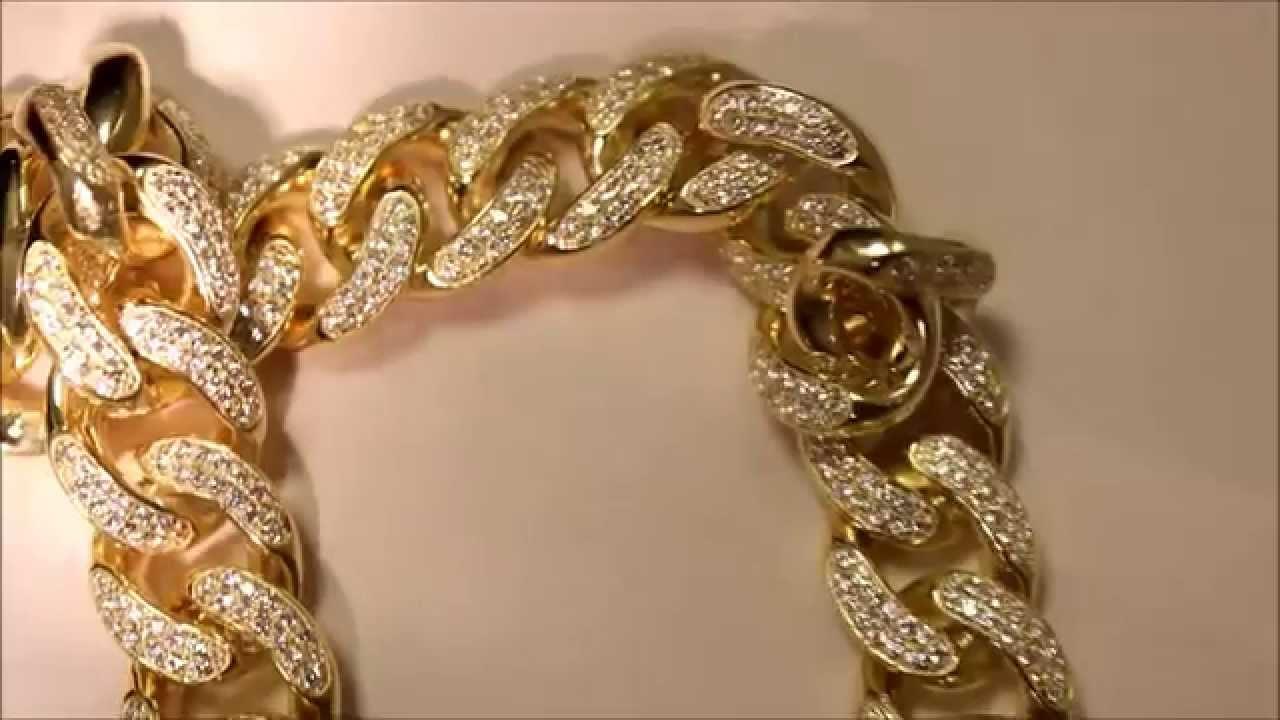 Half Kilo Solid Miami Cuban Diamond Chain