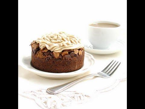 Almond Mocha Roca Brownie Cakes