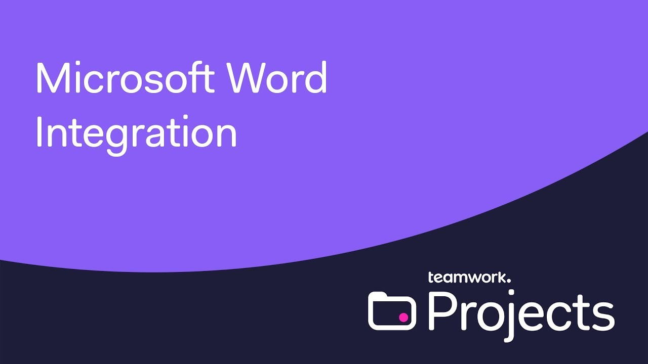 Microsoft Office Word Add-In - Teamwork Projects Support