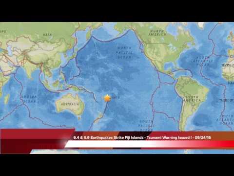 6.4 & 6.9 Earthquakes Strike the Fiji Island  - 09-24-16