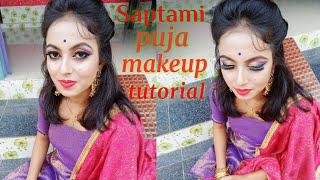 Durga Puja Saptami Makeup Look 2020 || Sparkling Twinkle || #makruptutorial #makeupvideo