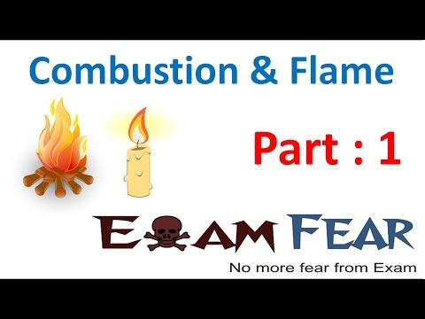 Chemistry Combustion & Flame Part 1 (Introduction) Class 8  VIII