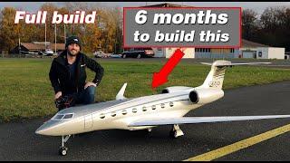 Homemade Gulfstream G650 RC Jet/ full build and first flight